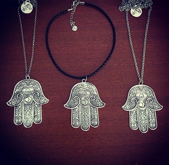 Image of HG statement hamsa tattoo choker & necklace