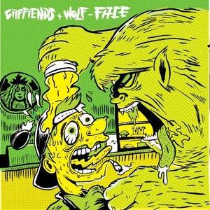 "Image of Caffiends Wolf-Face Split 7"" Vinyl"