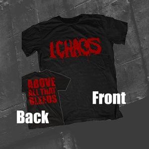 "Image of TS - Black ""Red Logo + Backprint"""