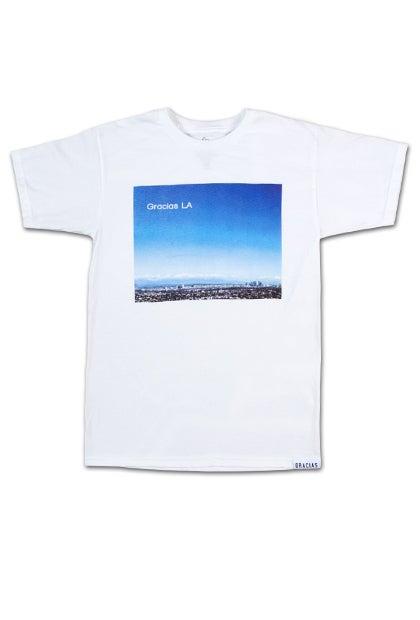 Image of Gracias LA Skyline Picture Tee. #124
