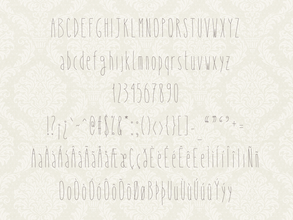 Image of Why So Skinny Font
