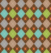Image of Brown Argyle print # 6176-36