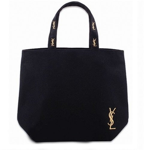 Image of SOLD OUT Yves Saint Laurent Authentic Vintage Gold Logo Canvas Tote Bag