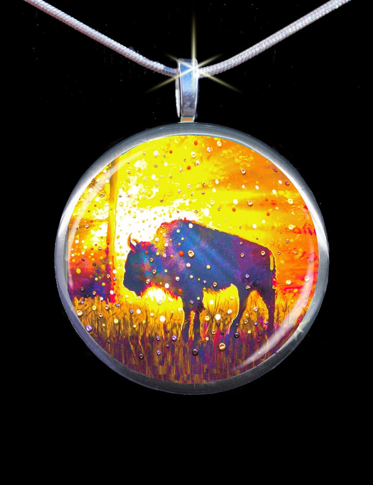 "Image of Sacred Buffalo ""Easy Abundance"" Energy Pendant"