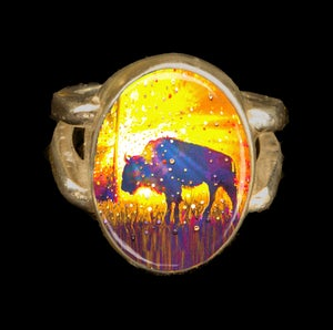 "Image of Sacred Buffalo ""Easy Abundance"" Energy Ring"