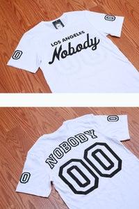 Image of LA NOBODY Jersey Style White T-shirt