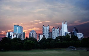 Image of Piedmont Park Atlanta Skyline