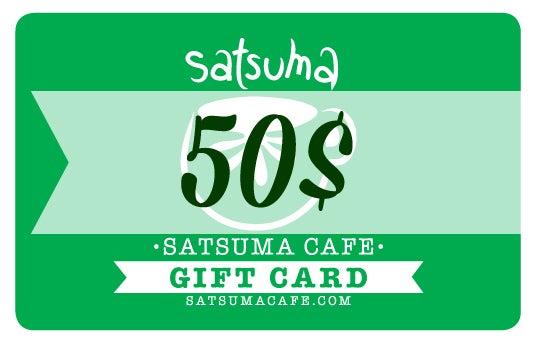 Image of Satsuma Giftcard / 50$