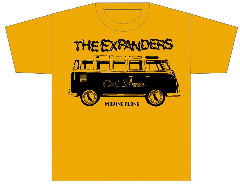 "Image of THE EXPANDERS ""MOVING ALONG"" GOLD YELLOW SHIRT"