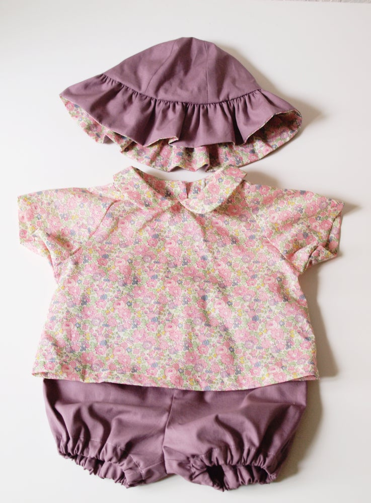 Image of Patron bébé fille ensemble Babyboum