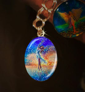 Image of Water Dancer Silver Charm - In each of us is a bright and boundless spirit