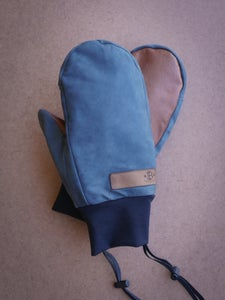 Image of Cluster Mitts - Steel Blue/Tan