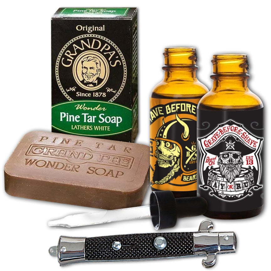 Image of GRAVE BEFORE SHAVE Beard Pack