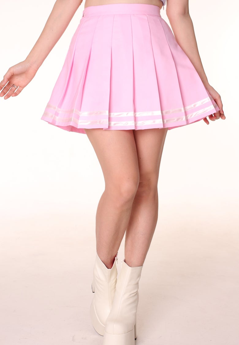 Image of Ready To Post - Baby Pink Cheerleading Skirt