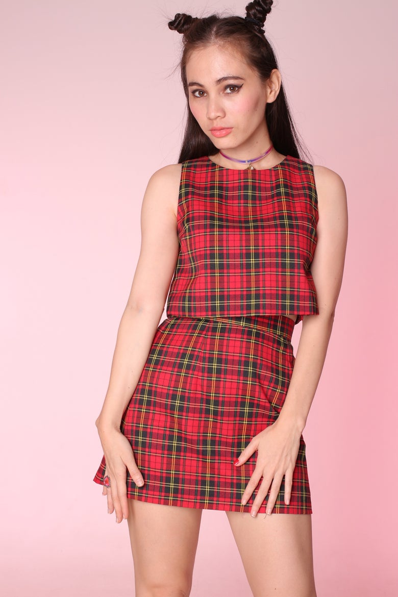 Image of PRE ORDER - Charli Red Tartan 2 piece Set