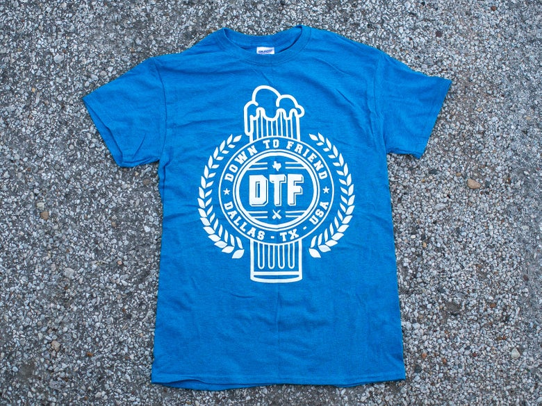 Image of Limited Edition Blue DTF Crest Tee