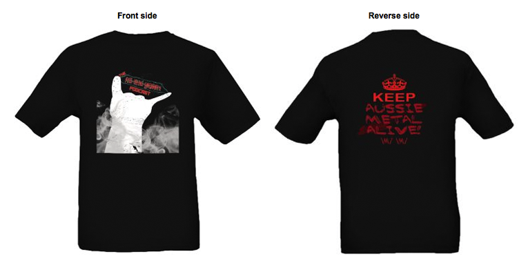 Image of Black Tee - Double Sided