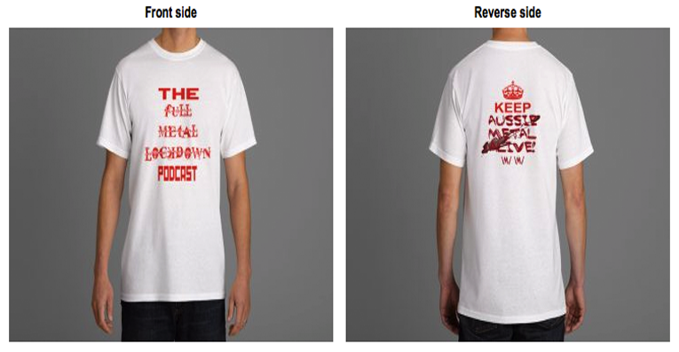 Image of White Tee - Double Sided