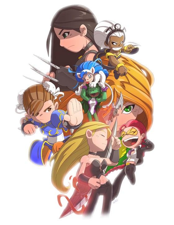 Image of Girls of Marvel Vs Capcom  Print
