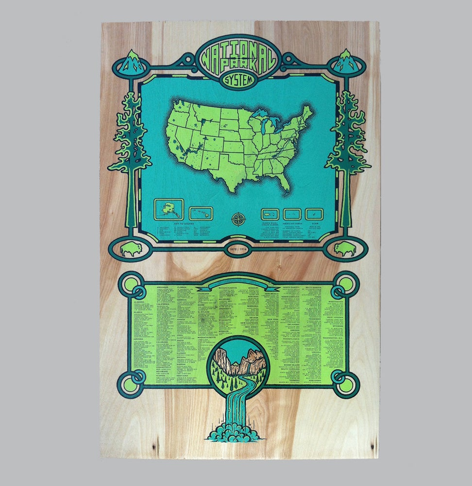 Image of National Park System - wood