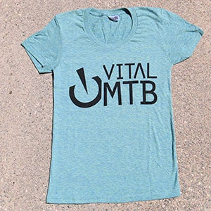 Image of Vital MTB Women's Stack T-Shirt, Tri-Lemon