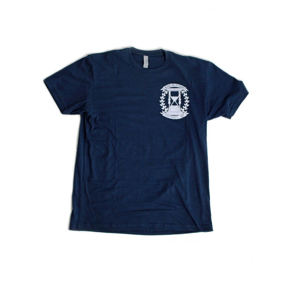 Image of Navy Blue Hourglass Tee