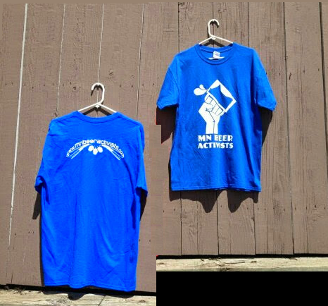 Image of MN Beer Activists Blue T-Shirt