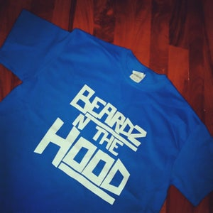 Image of ROYAL BLUE BEARDZ IN THE HOOD TEE