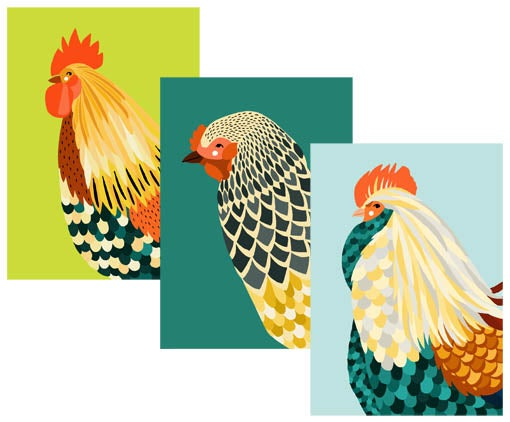 Image of The Chickens - Cards and Prints