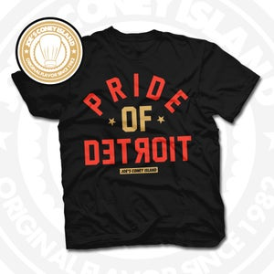 Image of Pride of Detroit Black (Gold/Red) Tee