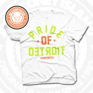 Image of Pride of Detroit White (Orange/Volt) Tee