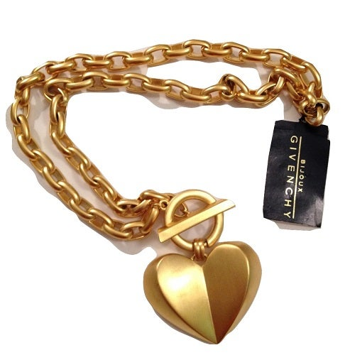 Image of SOLD OUT Givenchy Bijoux Massive Heart Necklace- New With Tags