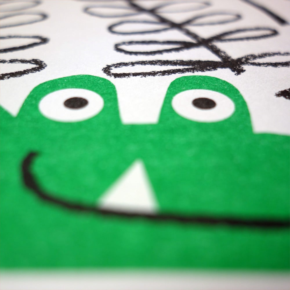 Image of Risograph | Crocodile