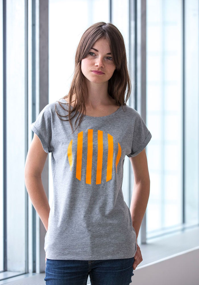 Image of Ladies Rolled Sleeve T-Shirt