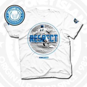 Image of Respect Jackie Robinson White Tee