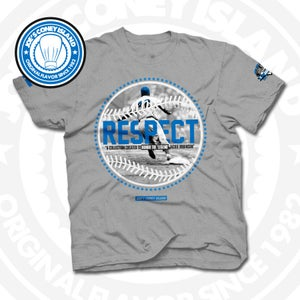 Image of Respect Jackie Robinson Grey Tee