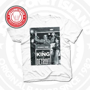 Image of King of Detroit Coleman Young White Tee