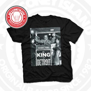 Image of King of Detroit Coleman Young Black Tee