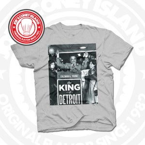 Image of King of Detroit Coleman Young Grey Tee