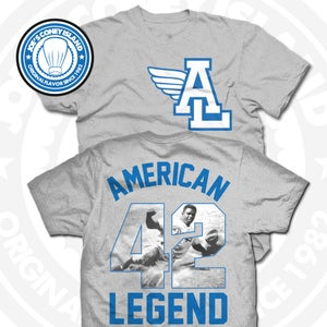 Image of American Legend (Sports Blue) Grey Tee