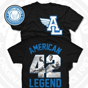 Image of American Legend (Sports Blue) Blk Tee