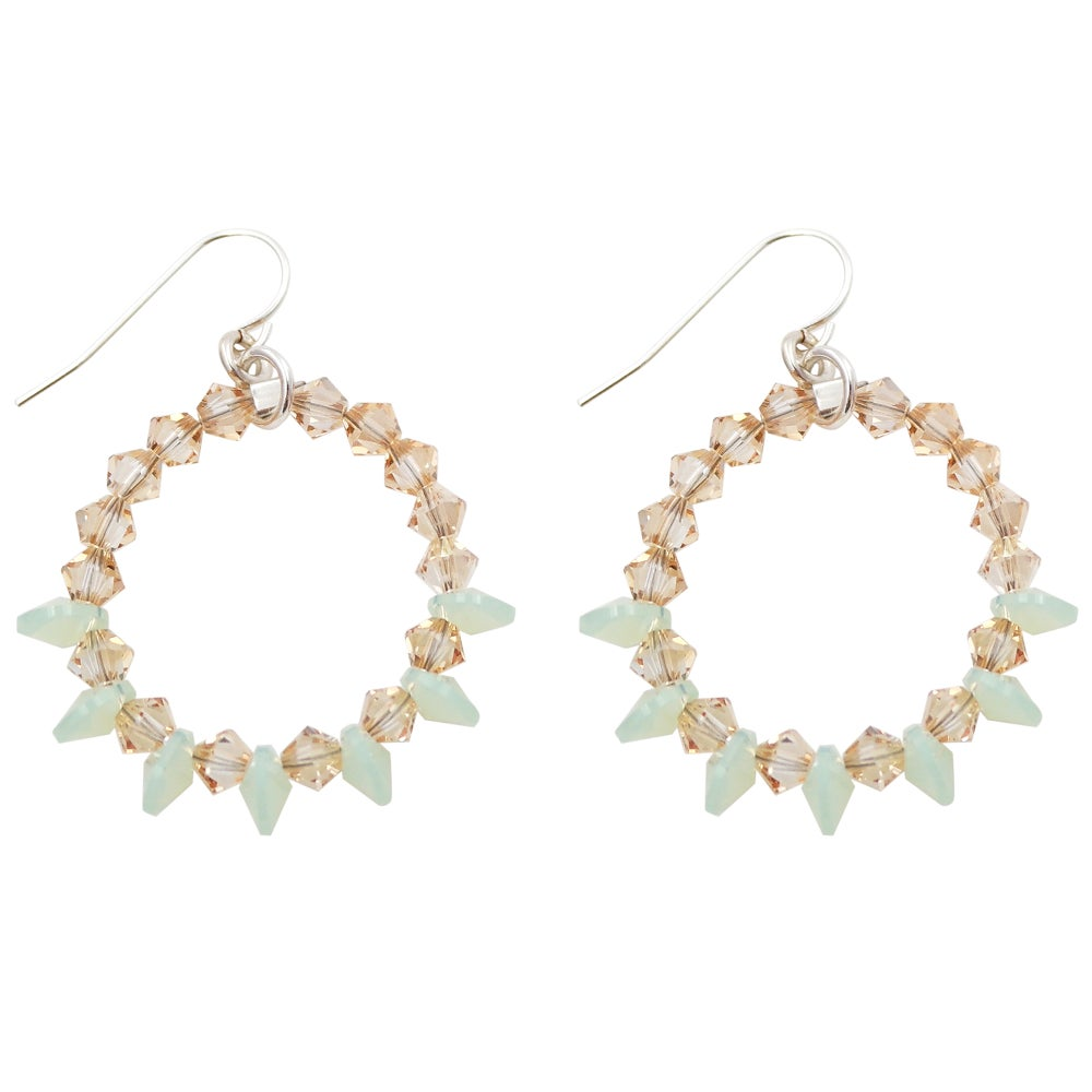 Image of Wicked Sparkle Hoops - Seascape Combo