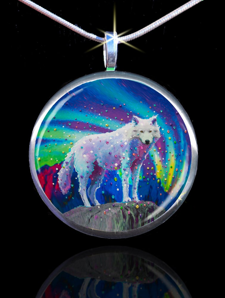 Image of White Wolf Spirit Guide Pendant