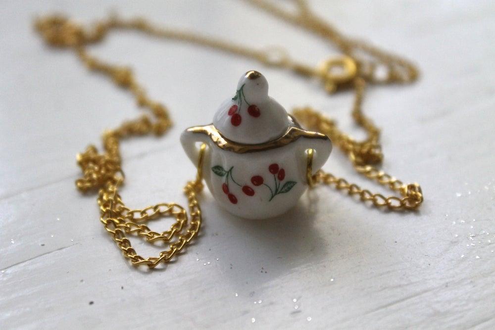 Image of Mini Cherry Sugarpot Necklace