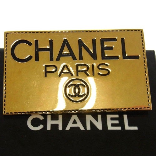 Image of SOLD OUT Chanel Vintage Authentic Signed Name Tag Pin Brooch