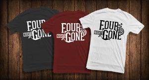 Image of Four Nights Gone Logo Design T-Shirt