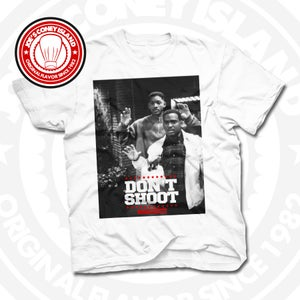 Image of Don't Shoot - White T-shirt Red trim