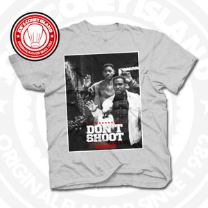 Image of Don't Shoot - Grey T-shirt Red trim