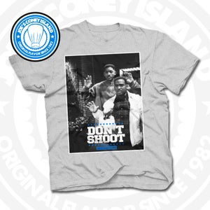 Image of Don't Shoot - Grey T-shirt Sports Blue trim