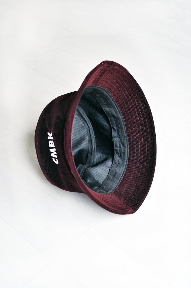 Image of CMBK Burgundy Corduroy Bucket Hat